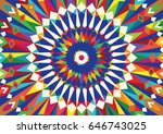 morocco colourful template.... | Shutterstock .eps vector #646743025