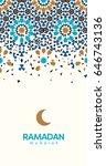 ramadan mubarak beautiful...   Shutterstock .eps vector #646743136