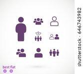 people icon  stock vector... | Shutterstock .eps vector #646743982
