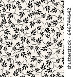 vector seamless pattern. branch ... | Shutterstock .eps vector #646744642