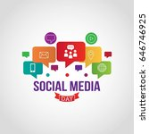 social media day vector... | Shutterstock .eps vector #646746925