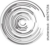 lines in circle form . vector... | Shutterstock .eps vector #646747156