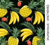 concept related with tropical... | Shutterstock .eps vector #646748482