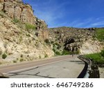 bicycle rider on windy desert... | Shutterstock . vector #646749286