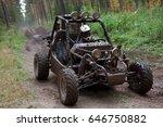 buggy car in dirt   Shutterstock . vector #646750882