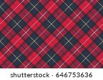 seamless pattern check plaid... | Shutterstock .eps vector #646753636
