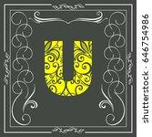 floral font alphabet  typeface  ... | Shutterstock .eps vector #646754986