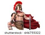 ancient warrior or gladiator...   Shutterstock . vector #646755322