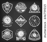 vintage white clocks repair... | Shutterstock .eps vector #646759315