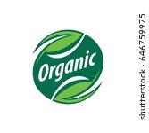 vector logo organic | Shutterstock .eps vector #646759975