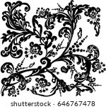 illustration with black... | Shutterstock .eps vector #646767478