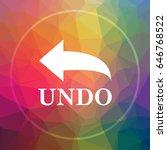 undo icon. undo website button... | Shutterstock . vector #646768522