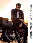 handsome rider man with beard... | Shutterstock . vector #646771066
