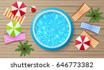 photorealistic summer vector... | Shutterstock .eps vector #646773382