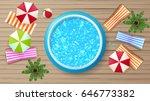 photorealistic summer vector... | Shutterstock .eps vector #646773382