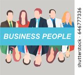 icons of business people.... | Shutterstock .eps vector #646777336