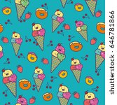 funny ice cream. vector... | Shutterstock .eps vector #646781866