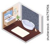 bathroom isometric interior... | Shutterstock .eps vector #646792906