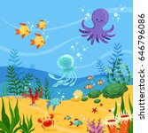 underwater background... | Shutterstock .eps vector #646796086