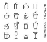 drinks thin line icons | Shutterstock .eps vector #646796278