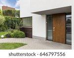 Wooden Entrance Door To Modern...