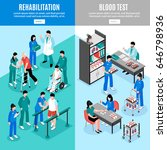 hospital vertical isometric... | Shutterstock .eps vector #646798936