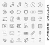cryptocurrency line icons set.... | Shutterstock .eps vector #646803196
