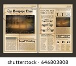 layout design. front page of... | Shutterstock .eps vector #646803808