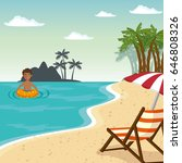 beach vacation design | Shutterstock .eps vector #646808326