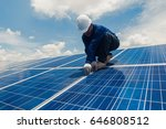 engineer and electrician team... | Shutterstock . vector #646808512