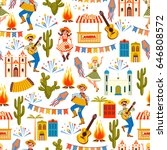 latin american holiday  the...   Shutterstock .eps vector #646808572