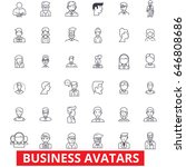 business avatars  businessman ... | Shutterstock .eps vector #646808686