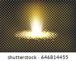 vector illustration of a golden ... | Shutterstock .eps vector #646814455