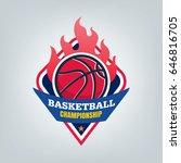basketball sport logo template... | Shutterstock .eps vector #646816705