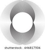 lines in circle form . spiral... | Shutterstock .eps vector #646817506