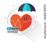 health insurance concept  ... | Shutterstock .eps vector #646818592