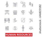 human resources  people  hiring ... | Shutterstock .eps vector #646823182