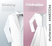wedding ceremony invitation... | Shutterstock .eps vector #646823266
