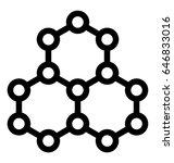 molecule vector icon | Shutterstock .eps vector #646833016