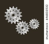 gears on a black background.... | Shutterstock .eps vector #646833532