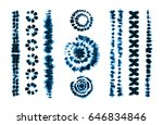set of tie dye art brushes.... | Shutterstock .eps vector #646834846