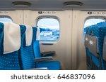 interior view of japanese train. | Shutterstock . vector #646837096