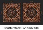 laser cutting set. woodcut... | Shutterstock .eps vector #646839538