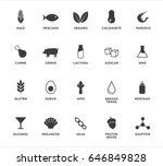 allergen icons set. written in...   Shutterstock .eps vector #646849828