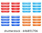 set of colored buttons learn... | Shutterstock .eps vector #646851706