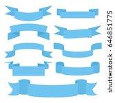 ribbon banners. blue decorative ... | Shutterstock .eps vector #646851775