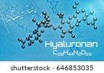 three dimensional molecular... | Shutterstock . vector #646853035