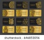 vector vintage business cards... | Shutterstock .eps vector #646853056