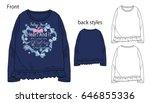 vector illustration of t shirt. ...   Shutterstock .eps vector #646855336
