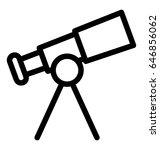 telescope vector icon | Shutterstock .eps vector #646856062